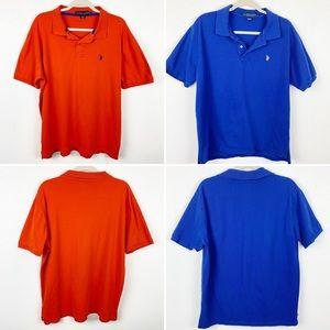 U.S. Polo Assn Blue and Orange Polo Shirt Lot XL